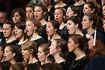 1204-40 1732<br /> <br /> 1204-40 Spring Commencement<br /> <br /> Brigham Young University Graduation<br /> <br /> Female students singing in Women's Choir at Commencement in the Marriott Center. Ethnicity, Performance, Music.<br /> <br /> February 07, 2009<br /> <br /> Photo by Jaren Wilkey/BYU<br /> <br /> &copy; BYU PHOTO 2012<br /> All Rights Reserved<br /> photo@byu.edu  (801)422-7322