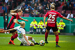 01.05.2019, RheinEnergie Stadion , K&ouml;ln, GER, 1.FBL, Borussia Dortmund vs FC Schalke 04, DFB REGULATIONS PROHIBIT ANY USE OF PHOTOGRAPHS AS IMAGE SEQUENCES AND/OR QUASI-VIDEO<br /> <br /> im Bild | picture shows:<br /> Pernille Harder (VfL Wolfsburg #22) setzt sich durch, <br /> <br /> Foto &copy; nordphoto / Rauch