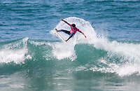 Huntington Beach, CA - Saturday August 05, 2017: Michael February during a World Surf League (WSL) Qualifying Series (QS) fifth round heat in the 2017 Vans US Open of Surfing on the South side of the Huntington Beach pier.