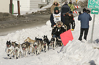 Cliff Roberson in Anchorage on Saturday March 1st during the ceremonial start day of the 2008 Iidtarod Sled Dog Race.