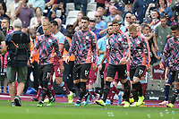 Players arrive during West Ham United vs Manchester City, Premier League Football at The London Stadium on 10th August 2019