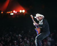 COACHELLA,CA - APRIL 25,2009: Brad Paisley performing at Stagecoach country music festival in Indio April 25, 2009.