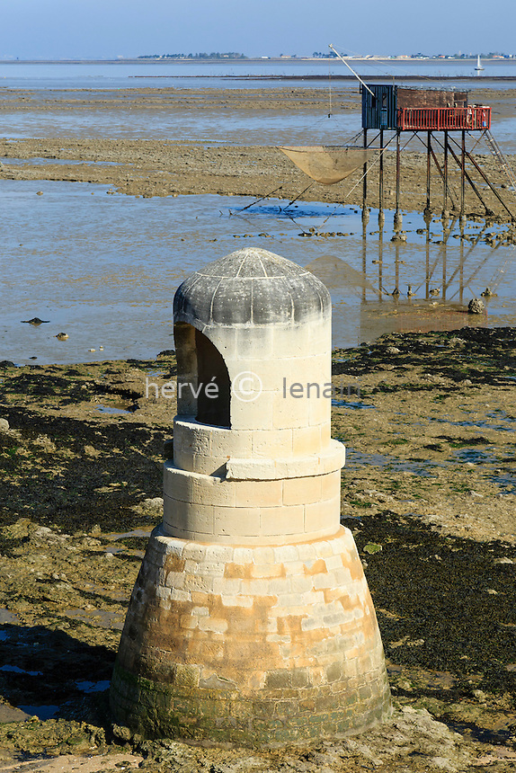 France, Charente-Maritime (17), Port-des-Barques, île Madame, le puits des Insurgés // France, Charente Maritime, Port des Barques, Madame island, the well of the Insurges