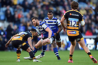 Max Wright of Bath Rugby in possession. Heineken Champions Cup match, between Wasps and Bath Rugby on October 20, 2018 at the Ricoh Arena in Coventry, England. Photo by: Patrick Khachfe / Onside Images