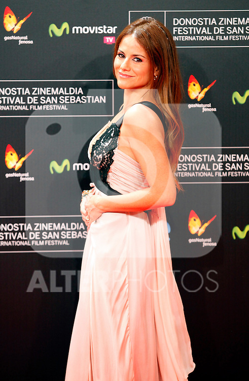 Monica Hoyos posses in the photocall of the 61 San Sebastian Film Festival, in San Sebastian, Spain. September 20, 2013. (ALTERPHOTOS/Victor Blanco)