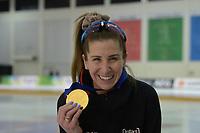 SPEEDSKATING: 16-02-2020, Utah Olympic Oval, ISU World Single Distances Speed Skating Championship, Podium Mass Start Ladies, Ivanie Blondin (CAN), World champion, gold medal, ©photo Martin de Jong