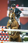 Henrik von Eckermann of Sweden riding Yajamila during the Hong Kong Jockey Club Trophy competition, part of the Longines Masters of Hong Kong on 10 February 2017 at the Asia World Expo in Hong Kong, China. Photo by Juan Serrano / Power Sport Images