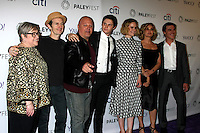 "LOS ANGELES - MAR 15:  Kathy Bates, Jim O'Hare, Michael Chiklis, Evan Peters, Sarah Paulson, Jessica Lange, Finn Wittrock at the PaleyFEST LA 2015 - ""American Horror Story: Freak Show"" at the Dolby Theater on March 15, 2015 in Los Angeles, CA"