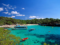 ESP, Spanien, Balearen, Menorca, Cala en Turqueta: Badebucht im Sueden | ESP, Spain, Balearic Islands, Menorca, Cala en Turqueta: bay and beach in the south