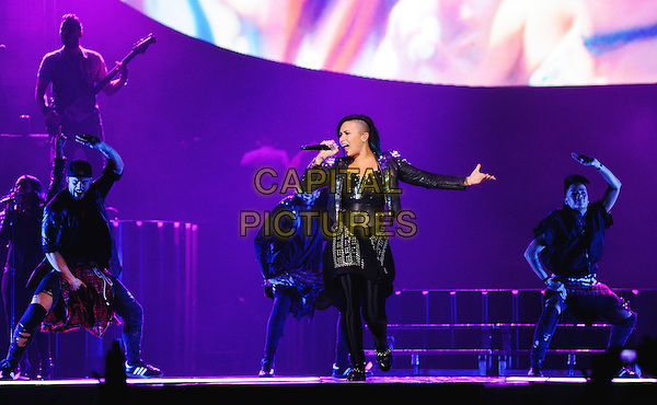 20 October 2014 - Hamilton, Ontario, Canada.  Singer and actress Demi Lovato performs on stage during her World Tour at the FirstOntario Centre.   <br /> CAP/ADM/BPC<br /> &copy;Brent Perniac/AdMedia/Capital Pictures