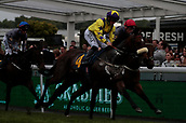 June 10th 2017, Chester Racecourse, Cheshire, England; Chester Races Horse racing Tom Marquand riding Sean O'Casey goes ahead of Modernism ridden by Stevie Donohoe in the Crabbies Handicap Stakes