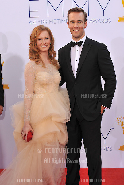 James Van Der Beek & Kimberly Van Der Beek at the 64th Primetime Emmy Awards at the Nokia Theatre LA Live..September 23, 2012  Los Angeles, CA.Picture: Paul Smith / Featureflash