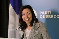 FILE PHOTO - Martine Ouellet<br />  (PQ), 2015<br /> <br /> <br /> PHOTO :   Agence quebec Presse