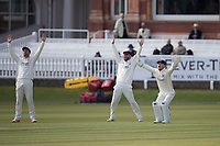 Alex Davies of Lancashire CCC leads the appeal for LBW during Middlesex CCC vs Lancashire CCC, Specsavers County Championship Division 2 Cricket at Lord's Cricket Ground on 11th April 2019