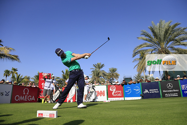 Morten Orum MADSEN (DEN) tees off the 13th tee during Sunday's Final Round of the 2015 Omega Dubai Desert Classic held at the Emirates Golf Club, Dubai, UAE.: Picture Eoin Clarke, www.golffile.ie: 2/1/2015
