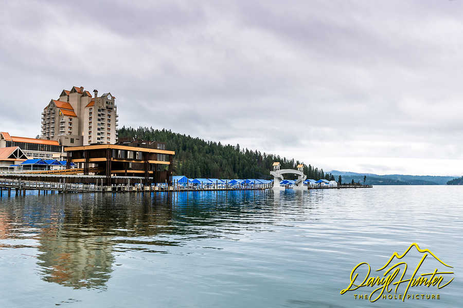 A stormy day at Coeur-d'Alene Resort Hotel.