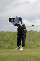Joao Magalhaes (POR) on the 14th tee during Round 3 of The Irish Amateur Open Championship in The Royal Dublin Golf Club on Saturday 10th May 2014.<br /> Picture:  Thos Caffrey / www.golffile.ie