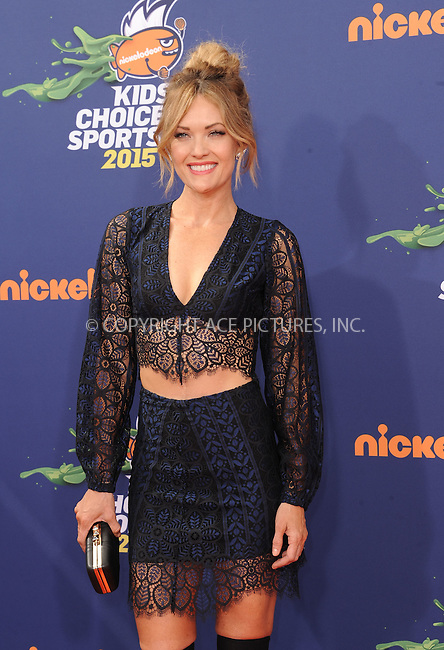 WWW.ACEPIXS.COM<br /> <br /> July 16 2015, LA<br /> <br /> Amy Purdy arriving at the Nickelodeon Kids' Choice Sports Awards 2015 at UCLA's Pauley Pavilion on July 16, 2015 in Westwood, California.<br /> <br /> By Line: Peter West/ACE Pictures<br /> <br /> <br /> ACE Pictures, Inc.<br /> tel: 646 769 0430<br /> Email: info@acepixs.com<br /> www.acepixs.com