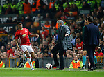 Jose Mourinho manager of Manchester United back flicks the ball after it had gone out during the Europa League Semi Final 2nd Leg match at Old Trafford Stadium, Manchester. Picture date: May 11th 2017. Pic credit should read: Simon Bellis/Sportimage