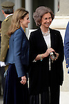 Queen Sofia and Princess Letizia during the Pascua Militar ceremony.January 06 ,2014. (ALTERPHOTOS/Pool)