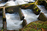 Swirling water in a fish ladder, Deschutes River, Olympia Washignton