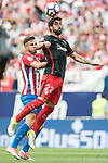 Saul Niguez Esclapez (L) of Atletico de Madrid  fights for the ball with Raul Garcia (R)  of Athletic Club during their La Liga match between Atletico de Madrid vs Athletic de Bilbao at the Estadio Vicente Calderon on 21 May 2017 in Madrid, Spain. Photo by Diego Gonzalez Souto / Power Sport Images