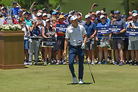 Jordan Spieth (USA) watches his tee shot on 1 during round 1 of the AT&T Byron Nelson, Trinity Forest Golf Club, at Dallas, Texas, USA. 5/17/2018.<br /> Picture: Golffile | Ken Murray<br /> <br /> <br /> All photo usage must carry mandatory copyright credit (© Golffile | Ken Murray)