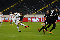 Valentin Stocker (FC Basel) zieht ab - 12.03.2020: Eintracht Frankfurt vs. FC Basel, UEFA Europa League, Achtelfinale, Commerzbank Arena<br /> DISCLAIMER: DFL regulations prohibit any use of photographs as image sequences and/or quasi-video.