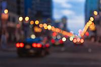 Blurred urbam street traffic.