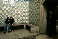 Tourists in the harem section of the Topkapi palace, Istanbul, Turkey