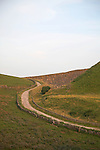 Small winding road, near Eldon Hill,  Castleton, Peak District national park, Derbyshire, England