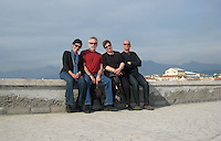 All of us on the seawall at Viareggio.
