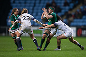 16th March 2018, Ricoh Arena, Coventry, England; Womens Six Nations Rugby, England Women versus Ireland Women; Paula Fitzpatrick of Ireland is tackled by Amber Reed of England