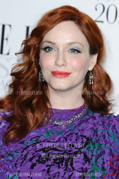 Christina Hendricks arriving for the Elle Style Awards 2012 at the Savoy Hotel, London. 13/02/2012 Picture by: Steve Vas / Featureflash