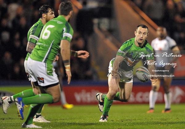Bob Beswick (Ireland)   - PHOTO: Mandatory by-line: Garry Bowden/SIPPA/Pinnacle - Photo Agency UK Tel: +44(0)1363 881025 - Mobile:0797 1270 681 - VAT Reg No: 768 6958 48 - 28/10/2013 - Rugby League World Cup 2013, Fiji v Ireland, Spotland Stadium, Rochdale, England