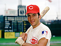 CIRCA 1969:  Johnny Bench #5, of the Cincinnati Reds, pre-game portrait before agame from his 1969 season.  Johnny Bench played for 17 seasons, all with the Cincinnati Reds. Johnny Bench was a 14 -time All-Star, 2-time National League MVP and was inducted to the Baseball Hall of Fame in 1989. (Photo by: 1969  SportPics  )  Johnny Bench
