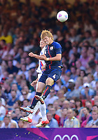 August 10, 2012..Japan's Hiroki Sakai in action during bronze medal match at the Millennium Stadium on day fourteen in Cardiff, England. Korea defeat Japan 2-0 to win Olympic bronze medal in men's soccer. ..