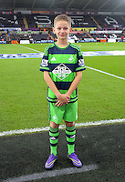 Child mascot before the Barclays Premier League match between Swansea City and Leicester City at the Liberty Stadium, Swansea on December 05 2015
