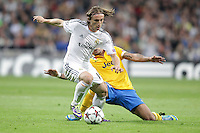 Real Madrid´s Luka Modric during Champions League 2013-14 match in Bernabeu stadium, Madrid. October 23, 2013. (ALTERPHOTOS/Victor Blanco)