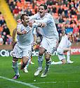 Aberdeen's Niall McGinn (10) celebrates with Aberdeen's Scott Vernon after he scores Aberdeen's equaliser   ...