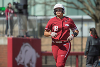 NWA Democrat-Gazette/BEN GOFF @NWABENGOFF<br /> Ashley Diaz, Arkansas first baseman, rounds the bases after hitting a two-run home run in the 6th inning vs South Carolina Sunday, March 17, 2019, at Bogle Park in Fayetteville.