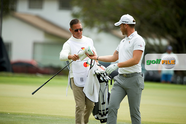 Danny Willett (ENG) and coach Sean Foley who was caddying during the final round of the Arnold Palmer Invitational presented by Mastercard, Bay Hill, Orlando, Florida, USA. 08/03/2020.<br /> Picture: Golffile | Scott Halleran<br /> <br /> <br /> All photo usage must carry mandatory copyright credit (© Golffile | Scott Halleran)