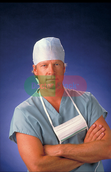 portrait of male surgeon in scrubs