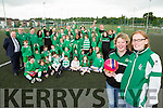 Jane O'Donoghue and Amelia Tucker and the footballers of Killarney Celtic football for all club who were runners up in the Irish Times best club in Ireland competition