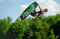 MasterCraft Pro Wakeboard Tour members grabbed some air on Lake Norman on Friday at the MasterCraft Pro Wakeboard Tour in Mooresville, N.C.<br /> <br /> Photo by: PatrickSchneiderPhoto.com