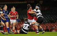Siwan Lillicrap of Wales is tackled by Anna Caplice of Barbarians and Charmaine McMenamin<br /> <br /> Photographer Ian Cook/CameraSport<br /> <br /> 2019 Autumn Internationals - Wales Women v Barbarians Women - Saturday 30th November 2019 - Principality Stadium - Cardifff<br /> <br /> World Copyright © 2019 CameraSport. All rights reserved. 43 Linden Ave. Countesthorpe. Leicester. England. LE8 5PG - Tel: +44 (0) 116 277 4147 - admin@camerasport.com - www.camerasport.com
