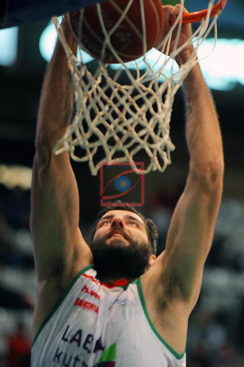 League ACB-Endesa 2015-2016. Game: 16.<br /> FIATC Joventut vs Laboral Kutxa Baskonia: 68-89.<br /> Bourousis.