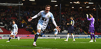 Blackburn Rovers' Joe Rothwell celebrates scoring his team's opening goal<br /> <br /> Photographer Dave Howarth/CameraSport<br /> <br /> The EFL Sky Bet Championship - Blackburn Rovers v Derby County -Tuesday 9th April 2019 - Ewood Park - Blackburn<br /> <br /> World Copyright &copy; 2019 CameraSport. All rights reserved. 43 Linden Ave. Countesthorpe. Leicester. England. LE8 5PG - Tel: +44 (0) 116 277 4147 - admin@camerasport.com - www.camerasport.com