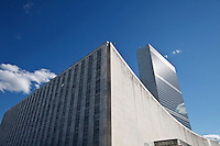 General view of the general U.N headquarters in New York, United States. 09/23/2012. Photo by Kena Betancur/VIEWpress.