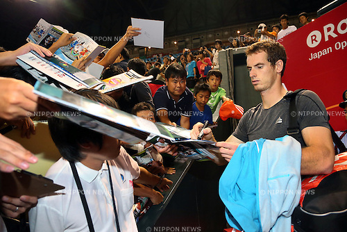 Andy Murray (GBR), .September 30, 2012 - Tennis : .Rakuten Japan Open 2012, ATP Sunday .at Ariake Colosseum, Tokyo, Japan. .(Photo by Daiju Kitamura/AFLO SPORT) [1045]